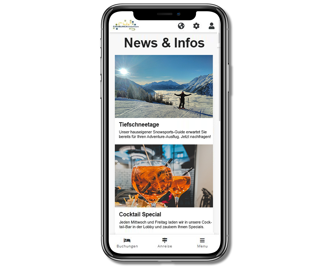 Smartphone Casablanca Gäste-App News und Infos 2