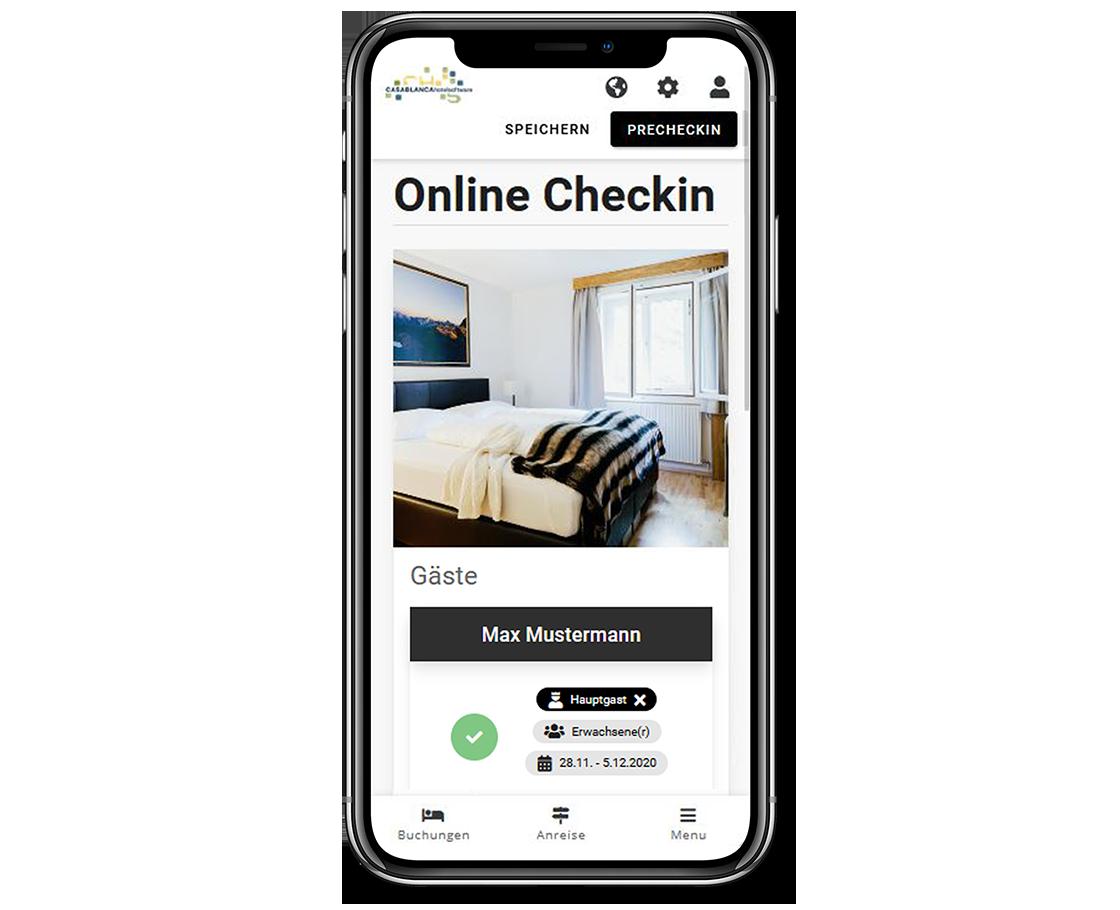 Smartphone Casablanca Gäste-App Online Check-In 2